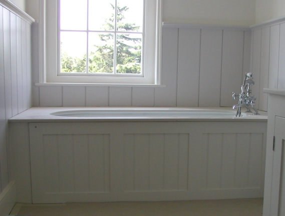 Panelled bathroom
