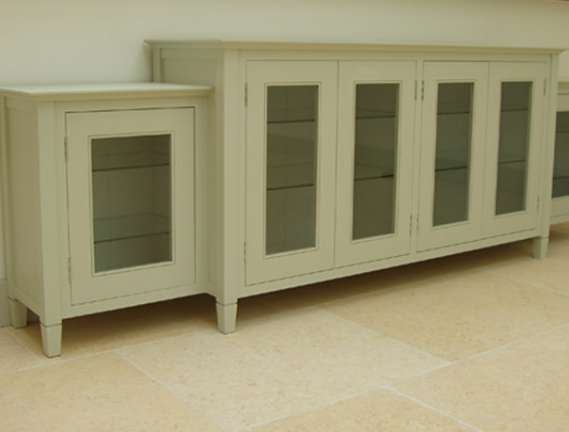 Painted low cabinet