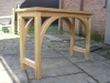 Oak arched table