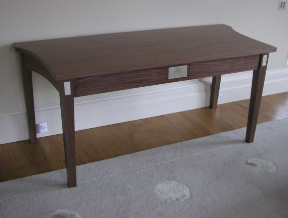 Walnut desk with White Gold detail