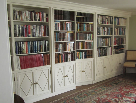 Painted wall of books
