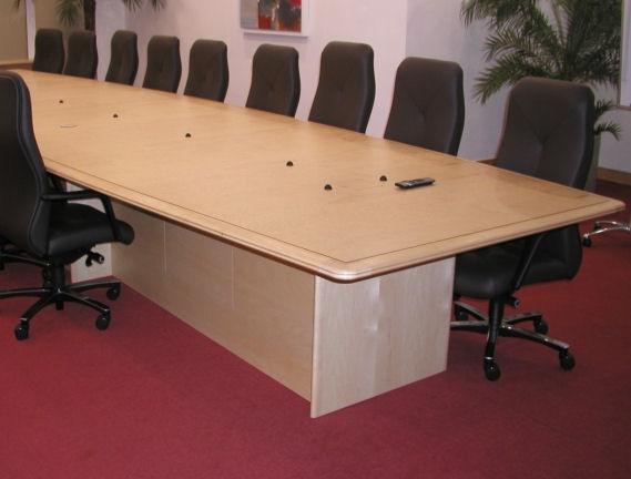 Maple desk detail