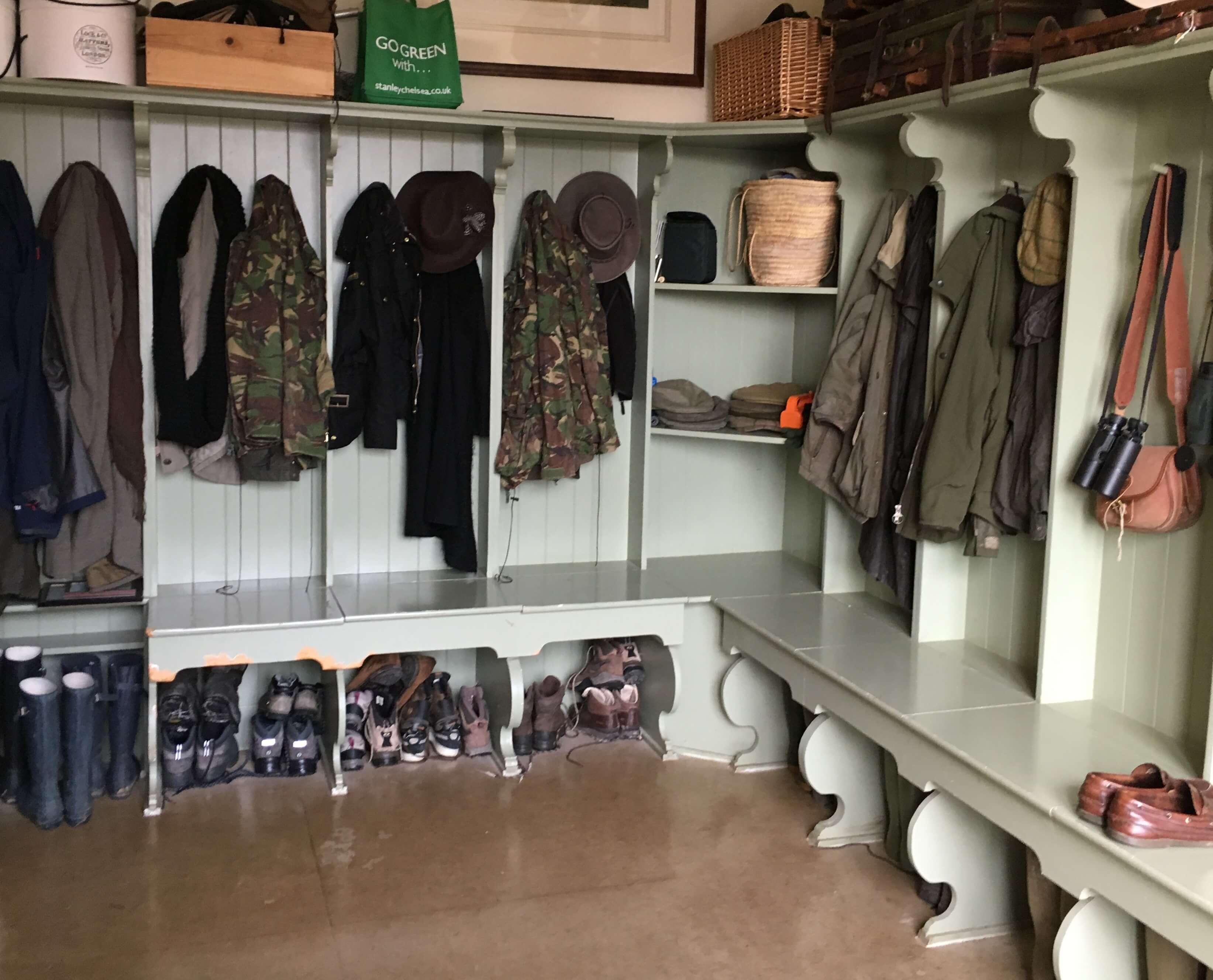 Painted Boot Room